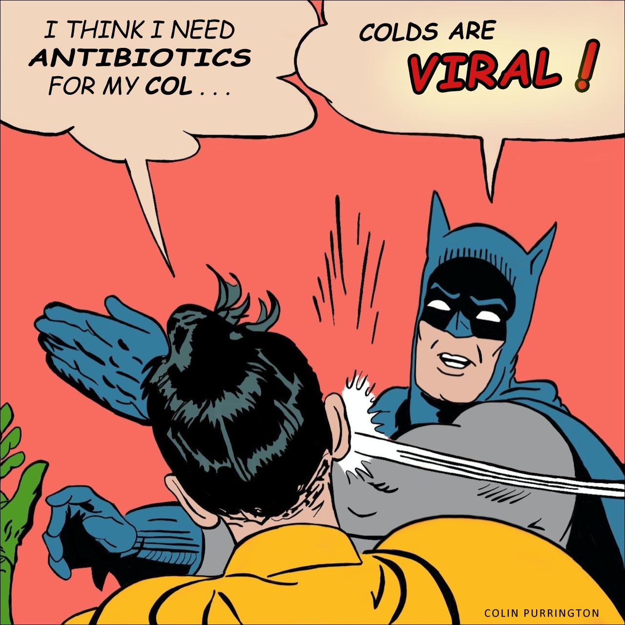 Антибиотике не помогут во время простуды или гриппа. Фото: http://colinpurrington.com/