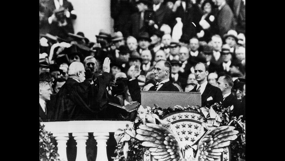 Франклин Делано Ркзвельт становится официальным президентом, 1933 год. Фото: cnn.com