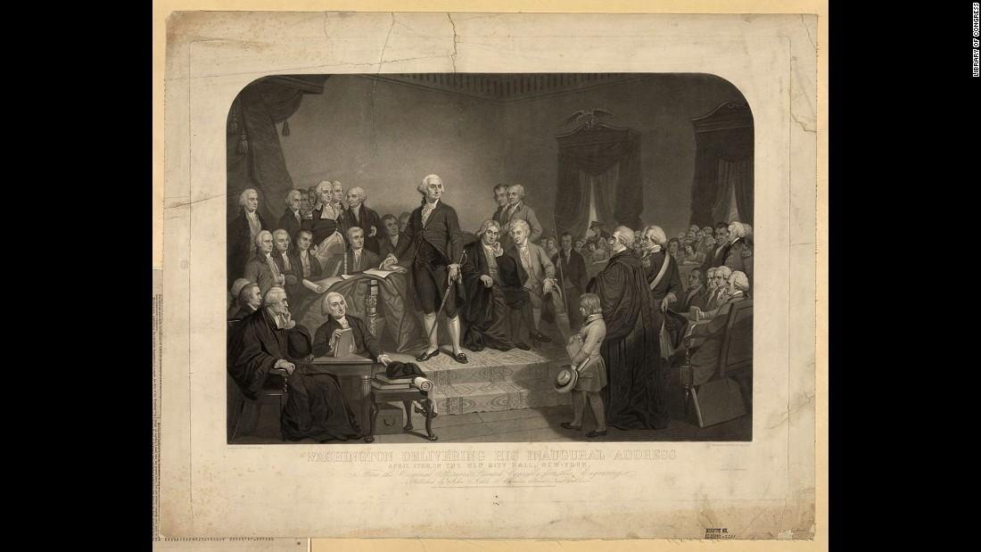 Инаугурация Джорджа Вашингтона, 1789 год. Фото: cnn.com