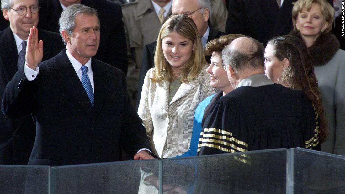 Присяга Джорджа Буша-младшего, 2001 год. Фото: cnn.com