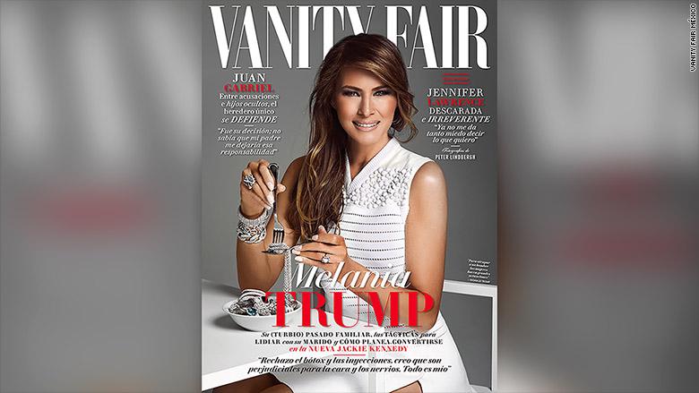 Мелания Трамп на обложке Vanity Fair в Мексике. Фото: cnn.com
