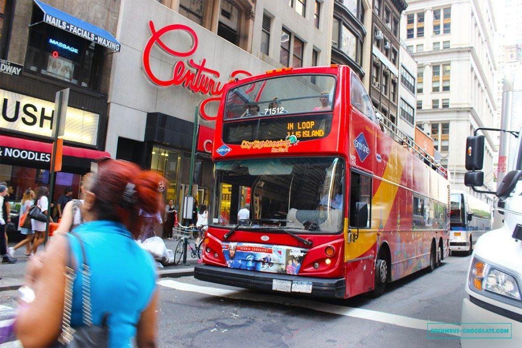 Туристический автобус хорош для тех, кто Нью-Йорке проездом. Фото columbus-chocolate.com