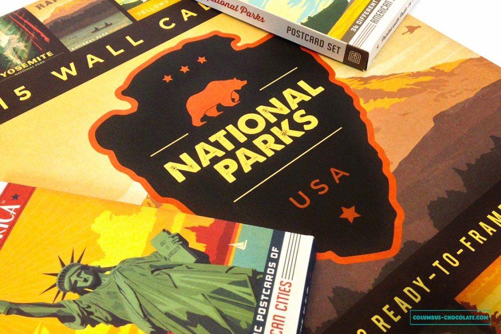 Еще один хороший вариант сувенира - календарь с пейзажами США. Фото columbus-chocolate.com