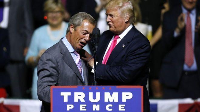 Найджел Фарадж и Дональд Трамп. Фото bbci.co.uk