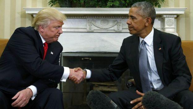 Дональд Трамп и Барак Обама. Фото http://ichef-1.bbci.co.uk/