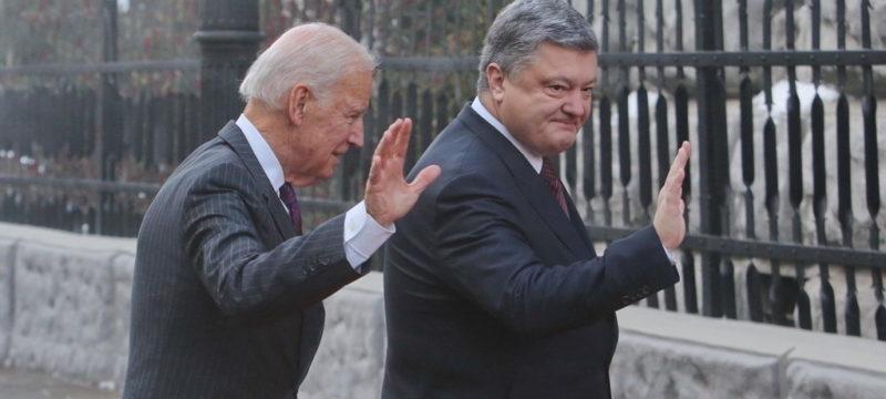 Джо Байден и Петро Порошенко на встрече в Киеве. Фото: kyivpost.com