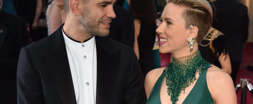 """Йоханссон и Дуриак на вручении """"Оскара"""" в 2015 году. Фото: popsugar.com"""