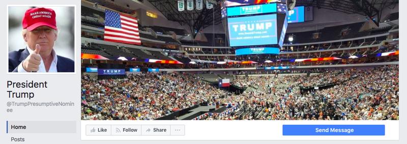 Неофициальная страница Трампа. Фото vox.com