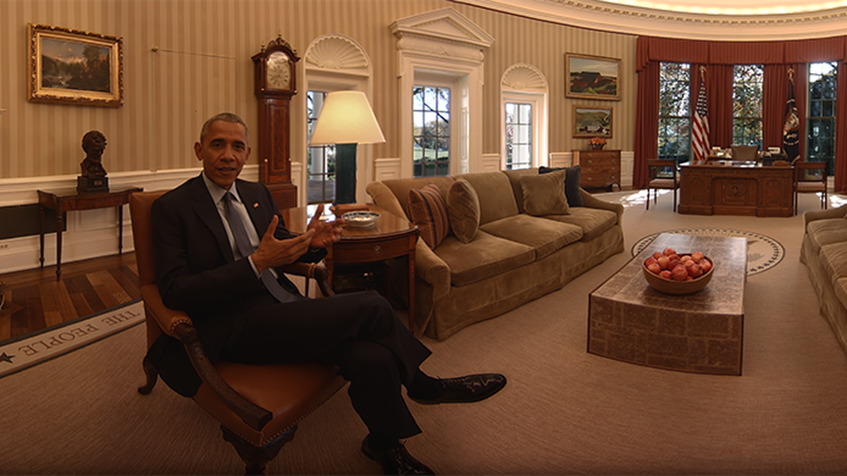 Барак и Мишель Обама проведут вам 8-минутную экскурсию по Белому дому. Фото http://mashable.com/
