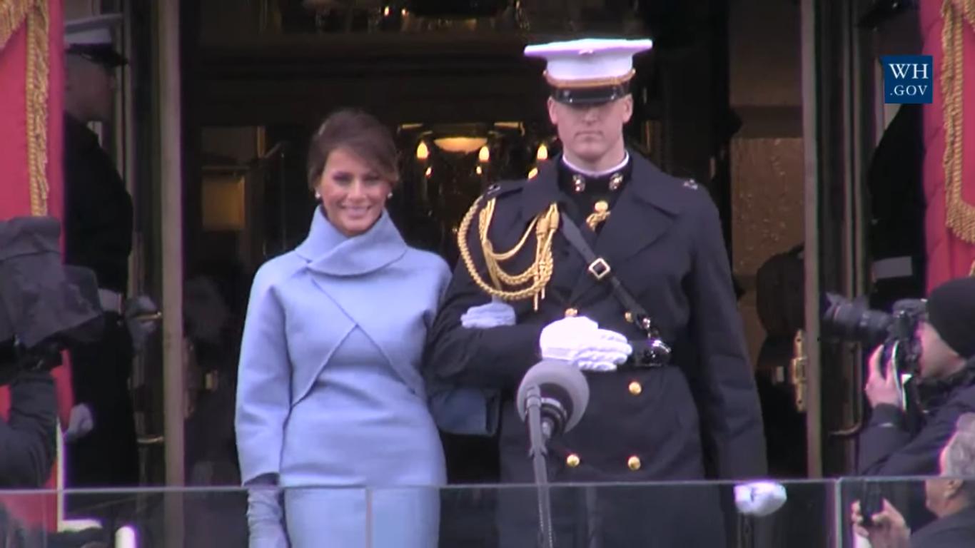 Мелания Трамп на инаугуации мужа