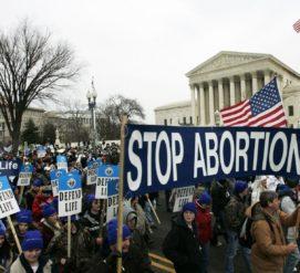 На марш против абортов пришел вице-президент