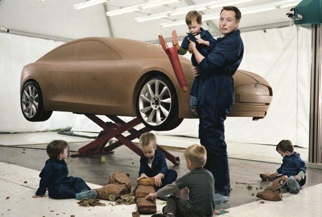 Илон Маск отдыхает с детьми.  Фото http://nextshark.com/