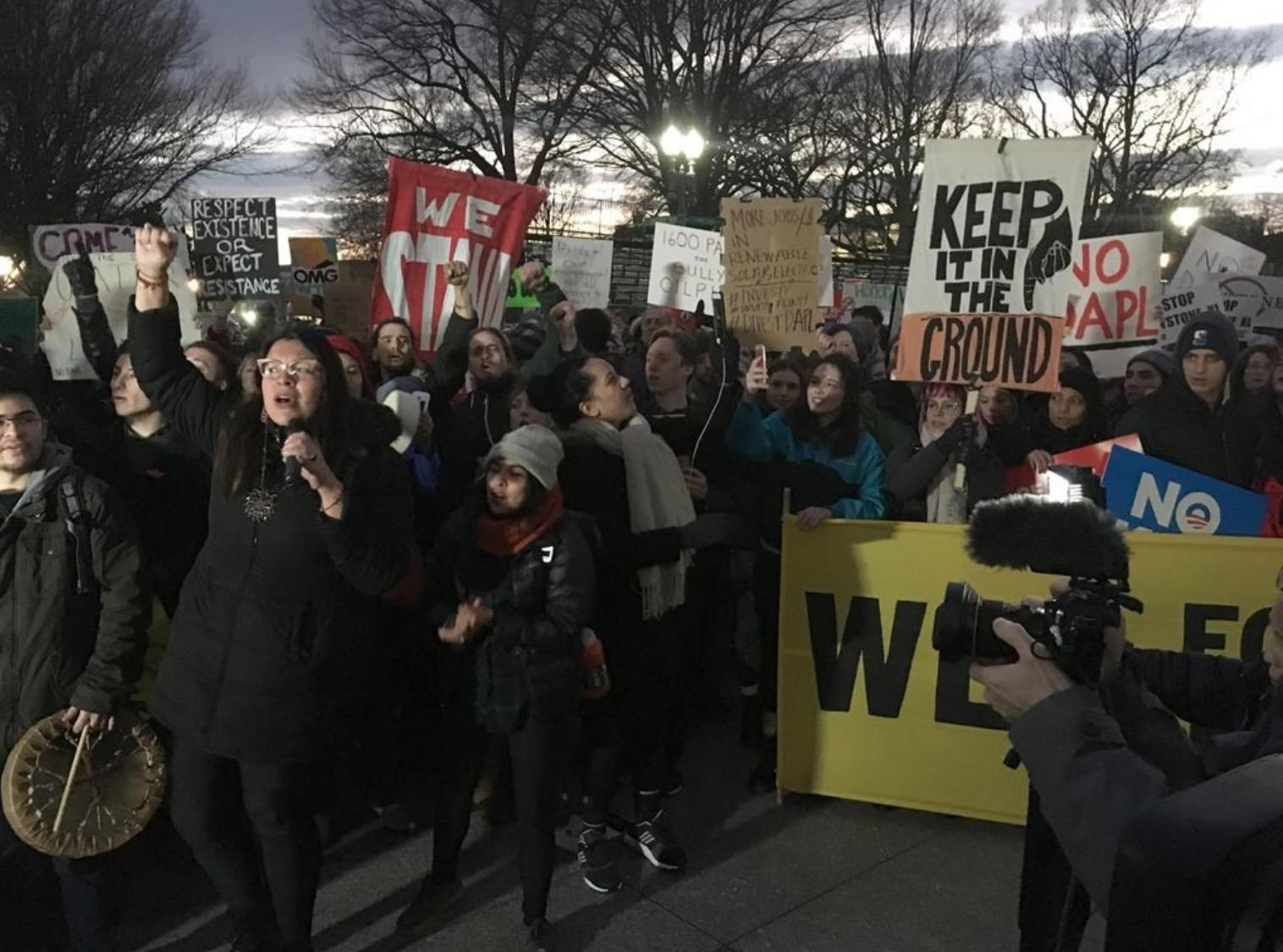 Протест возле Белого дома. Фото: nationalobserver.com