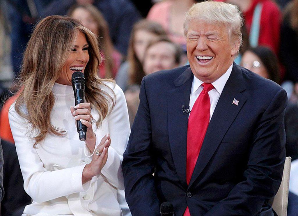 Дональд Трамп с женой Меланией. Фото http://s13.stc.all.kpcdn.net/