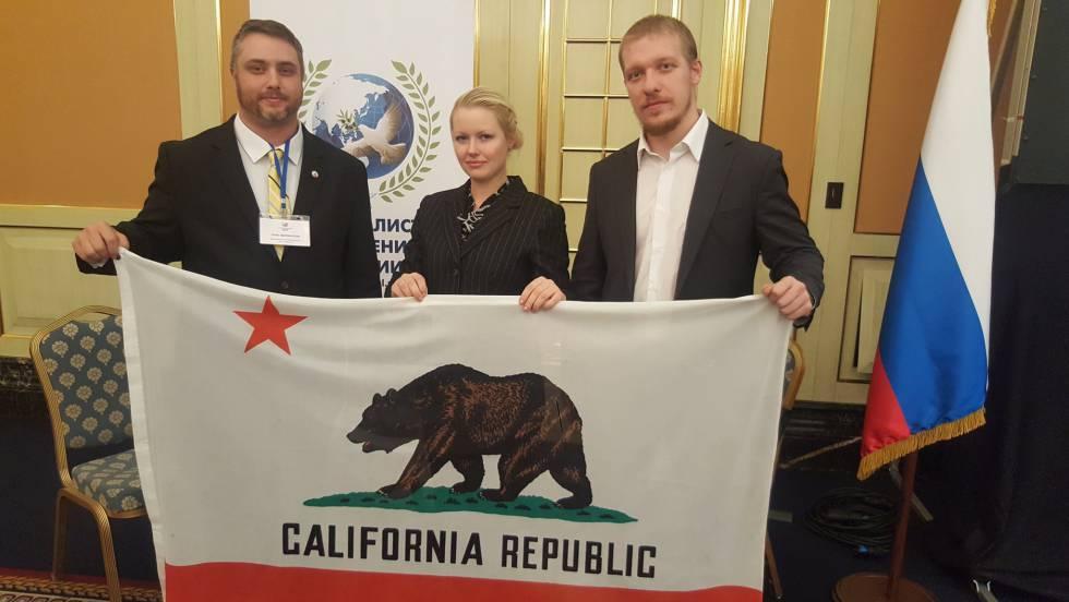 """Маринелли на конференции """"Диалог наций"""", которую профинансировал Кремль. Фото: internacional.elpais.com"""