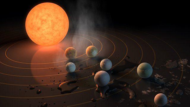 Шесть из семи обнаруженных планет пригодны для жизни. Фото: ria.ru
