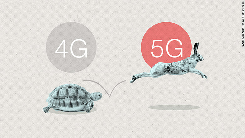 5G будет в 40 раз быстрее, чем 4G. Фото: cnn.com