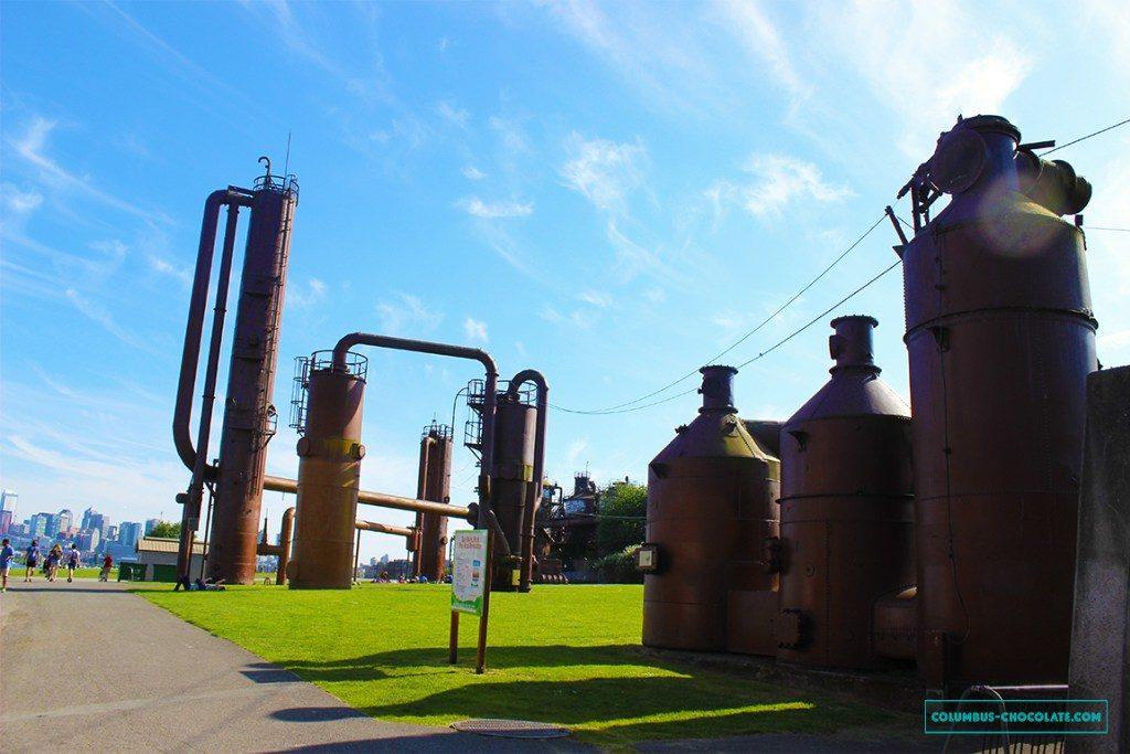 Gas Works Park - одна из самых ярких достопримечательностей города. Фото columbus-chocolate.com