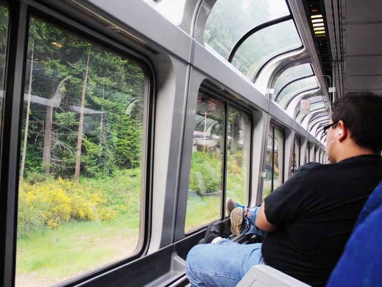 В поездах есть вагоны с панорамными окнами. Фото columbus-chocolate.com