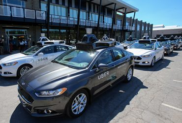 A fleet of Uber's Ford Fusion self driving cars are shown during a demonstration of self-driving automotive technology in Pittsburgh, Pennsylvania, U.S. September 13, 2016.  REUTERS/Aaron Josefczyk - RTSNO63
