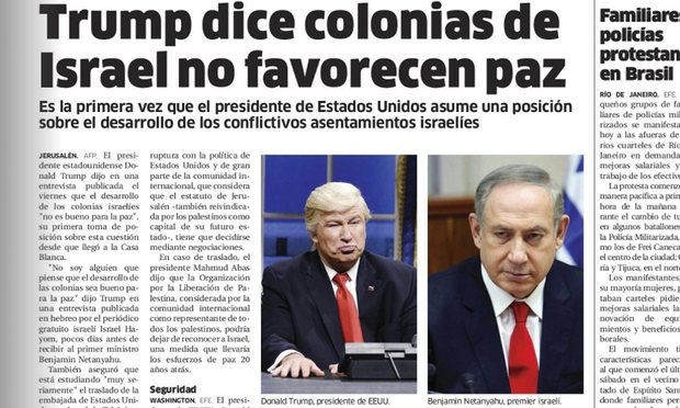 Статья El Nacional с фото Алека Болдуина в роли Трампа. Фото theguardian.com