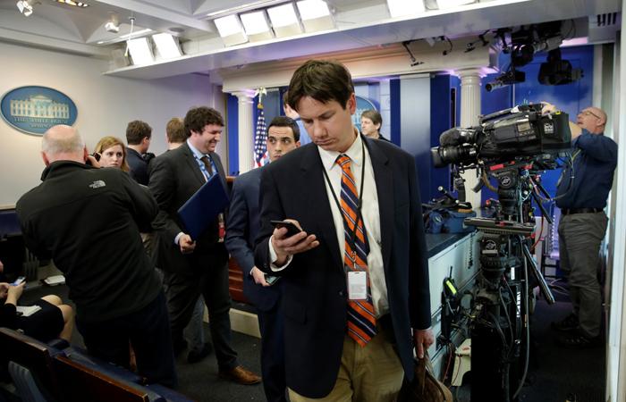 Журналисты на брифинге в Белом доме. Фото interfax.ru