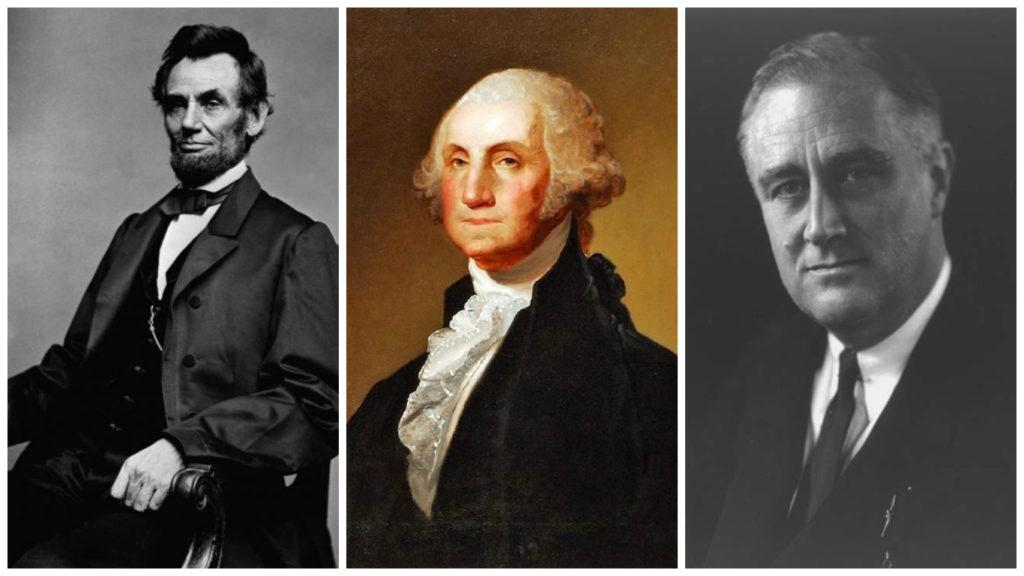 Авраам Линкольн, Джордж Вашингтон и Франклин Рузвельт заняли первые места рейтинга. Фото http://retrobazar.com, /flytothesky.ru, http://moikompas.ru