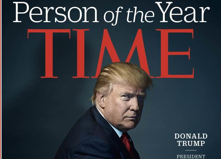 Трамп на обложке Time в качестве человека года. Фото: time.com