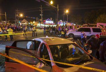 Пьяный водитель врезался в зрителей парада Марди Гра в Новом Орлеане