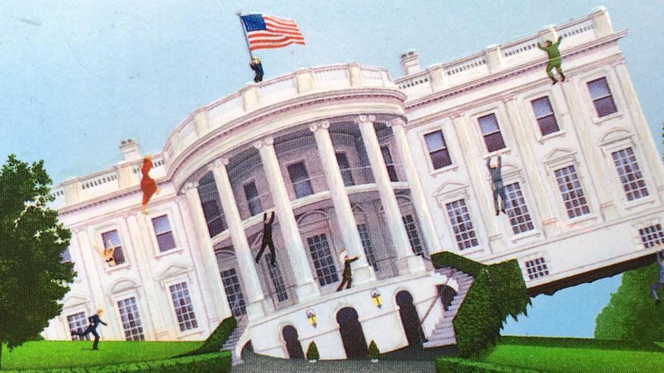 """Одна из версий обложки книги """"Суматоха в Белом доме"""". Фото mshcdn.com"""