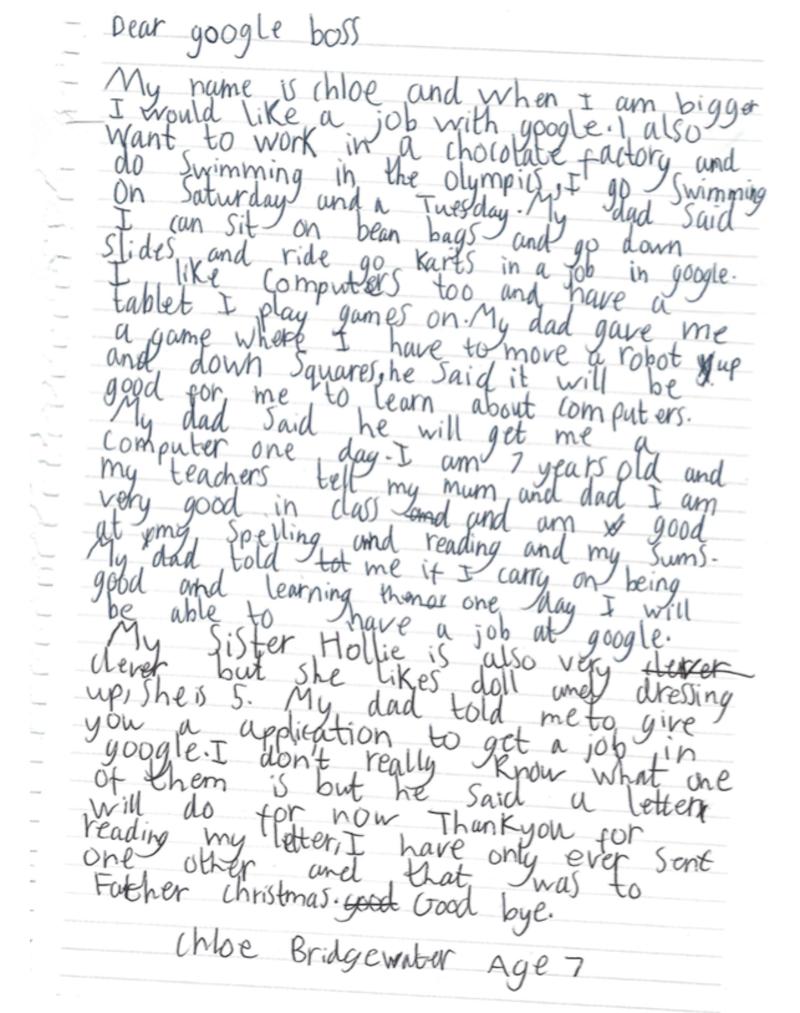 """Мотивационное письмо"" от Хлои"