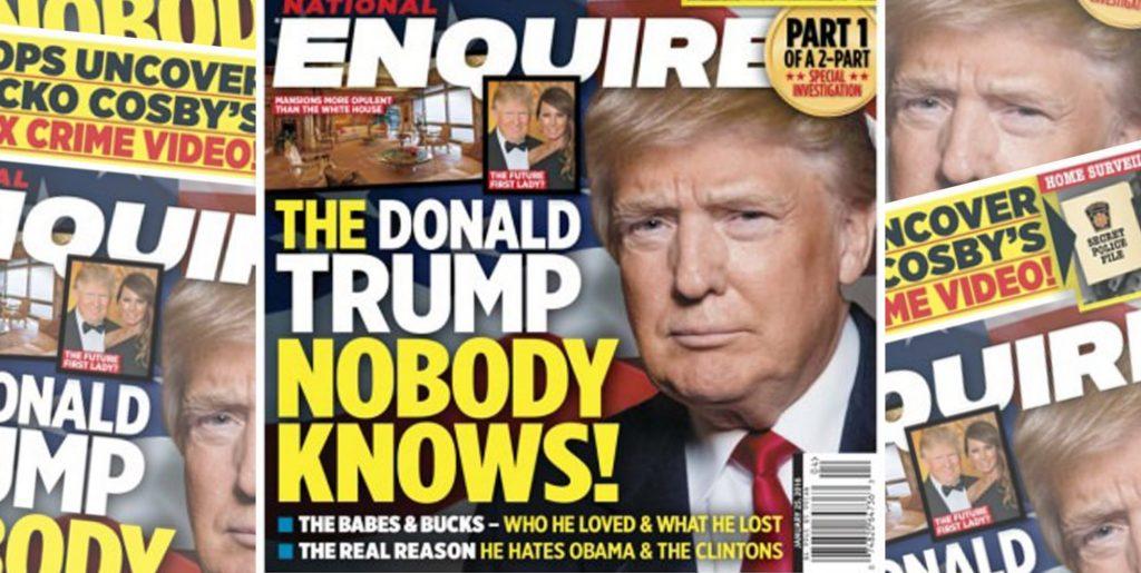 """Обложка одного из выпусков National Enquirer с заголовком """"Дональд Трамп, каким его никто не знает"""". Фото thedailybeast.com"""