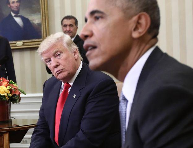 Дональд Трамп уверен, что его прослушивал бывший президент Обама. Фото: bbc.com