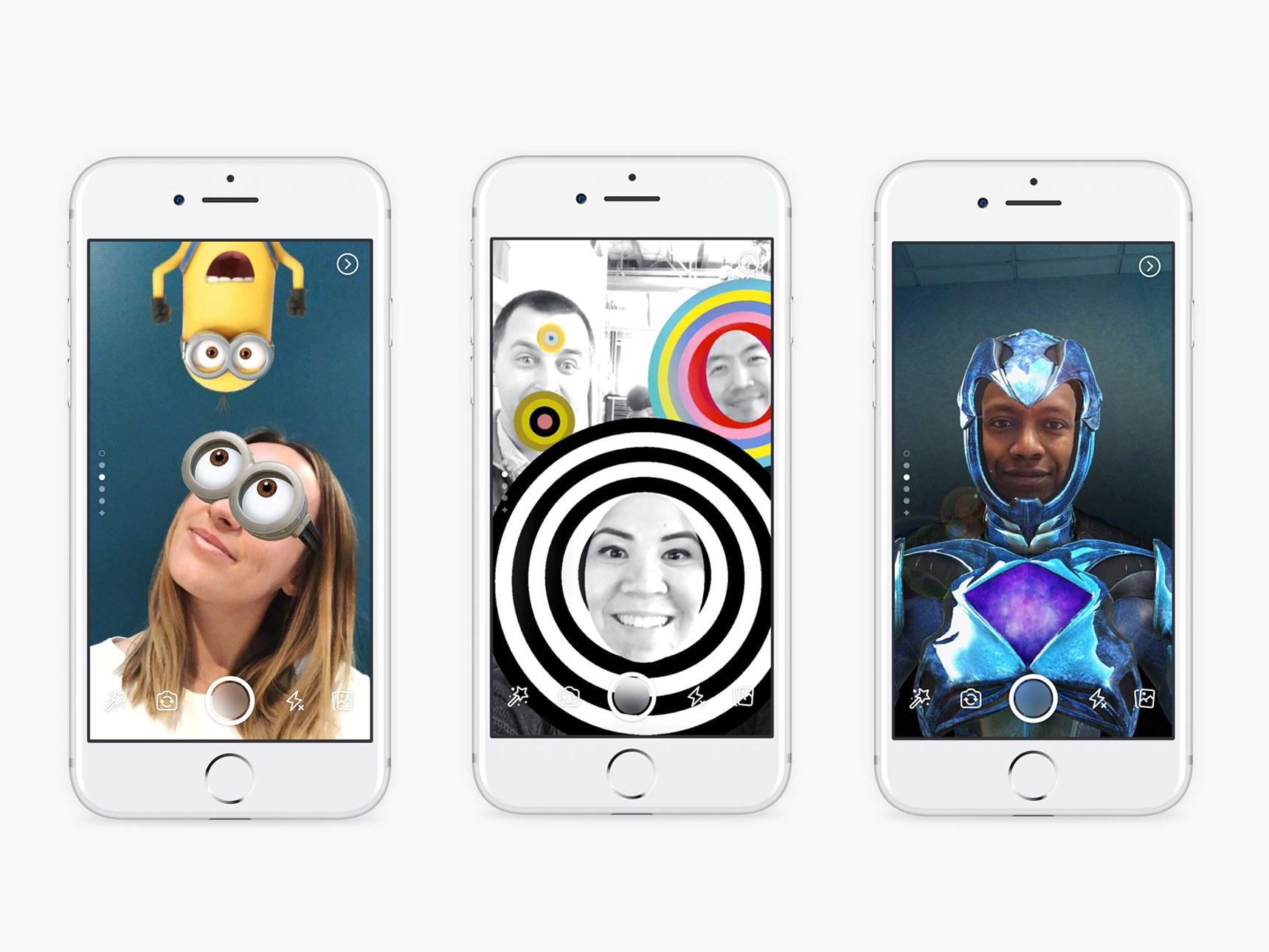 Facebook добавляет в свое приложение функционал Snapchat. Фото: wired.com