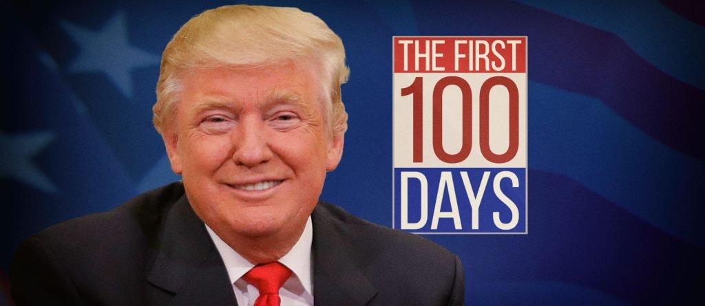 О первых 100 днях правления Трампа существуют разные мнения, но самому Трампу все нравится. Фото keloland.com