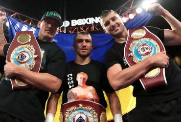 Три украинских боксера празднуют одновременную победу в Вашингтоне