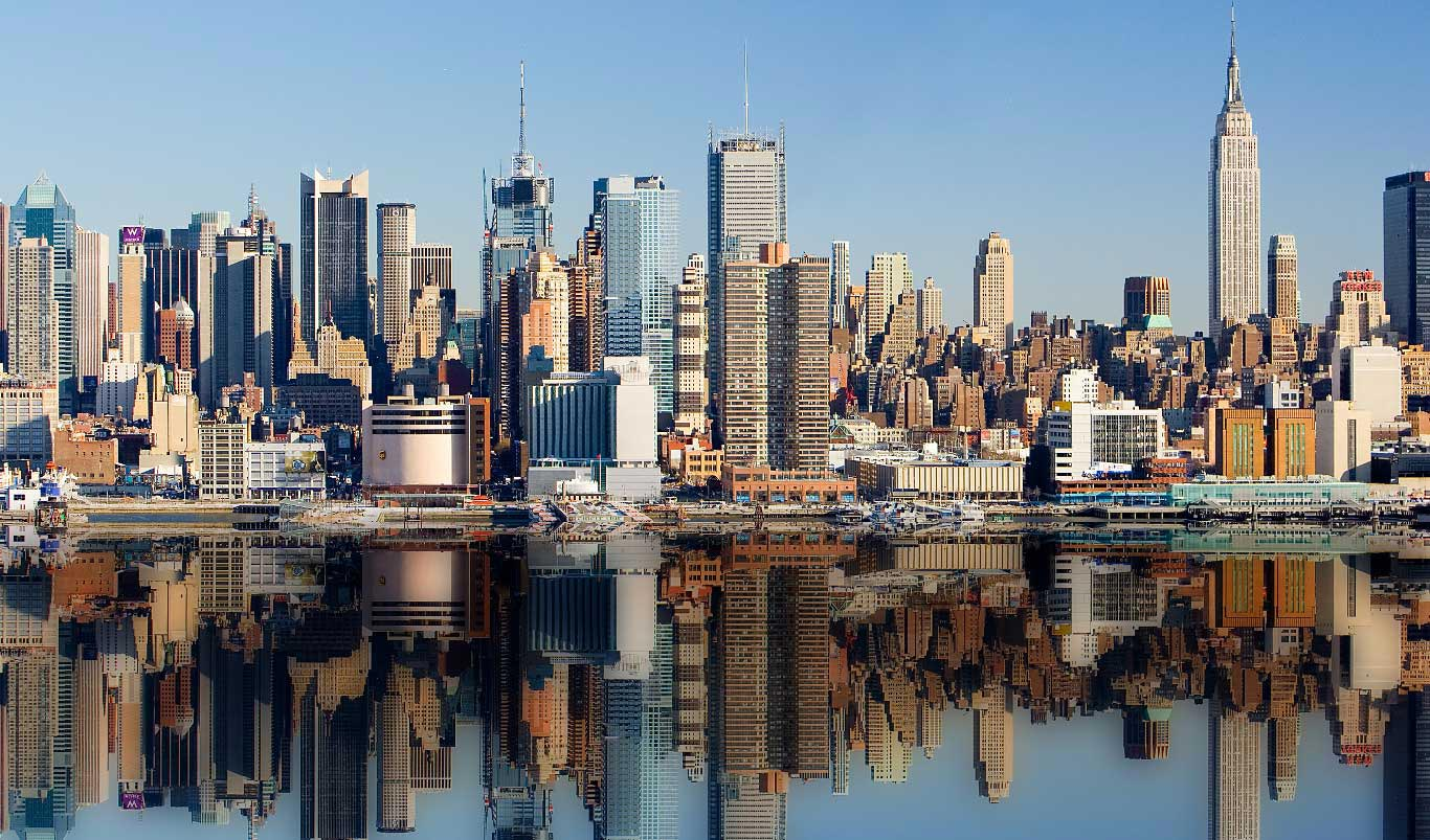 Как ни странно, Нью-Йорк - не самый загрязненный город страны. Фото: pinterest.com