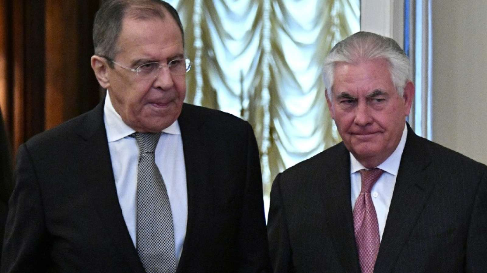 Сначала Тиллерсон встретился с министром инотранных дел Сергеем Лавровым. Фото: unian.info