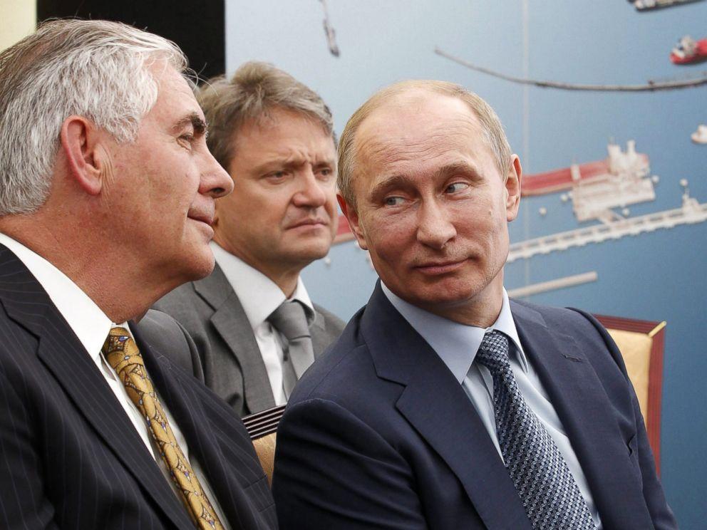 Тиллерсон и Путин в 2012 году. Фото: abcnews.go.com