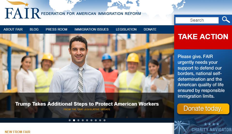 Главная страница сайта FAIR. Статья: Президент сделал еще один шаг, чтобы защитить американских рабочих