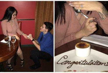 Подросток сделал предложение своей подруге, чтобы получить бесплатный десерт в ресторане