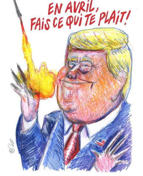 Карикатура на Дональда Трампа. Фото charliehebdo.fr