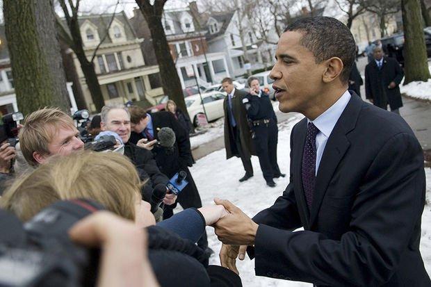 Обама приехал в место, с котрого начинал свою карьеру. Фото: dnainfo.com