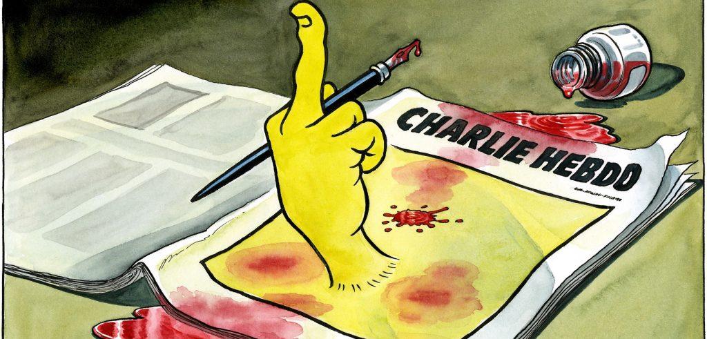 Издание Charlie Hebdo  известно своими карикатурами на громкие события. Фото independent.co.uk