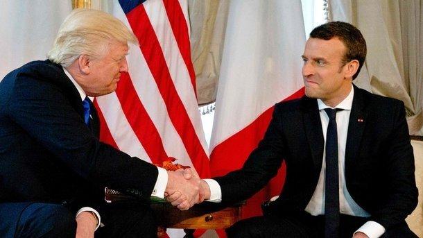 Трамп и Макрон. Фото AFP