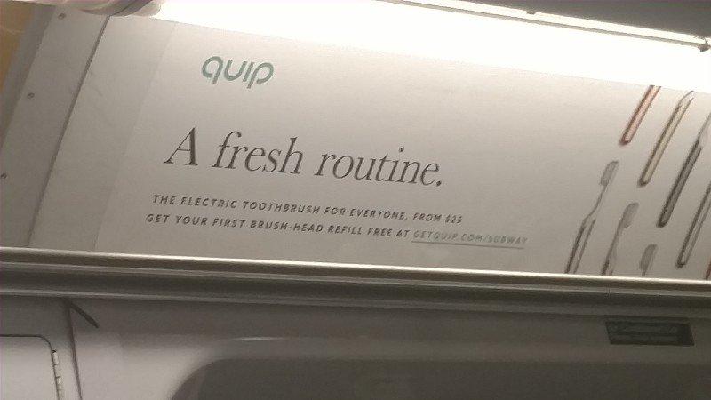 Реклама компании  Quip. Фото ain.ua