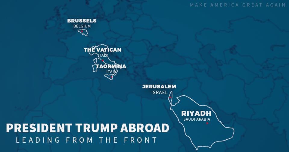 Карта турне Трампа. Фото facebook.com/DonaldTrump