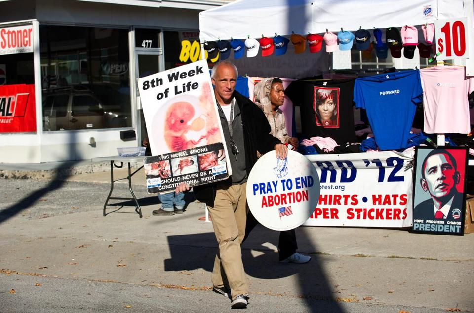 Протест против абортов в Кентуки. Фото: bostonglobe.com
