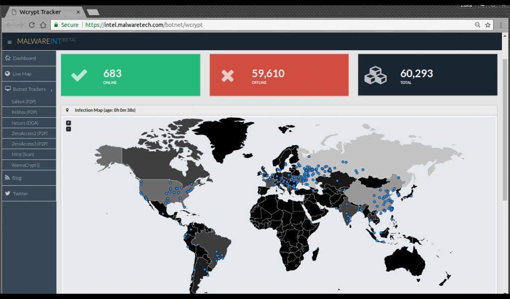 Карту заражений в реальном времени можно наблюдать здесь. Фото habrahabr.ru