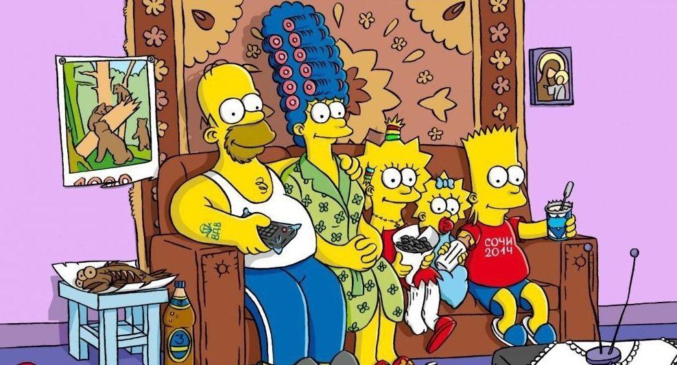 """""""Симпсоны"""" любят посмеяться над современными трендами. Фото:"""